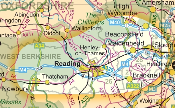Map of the Thames Valley IVC area